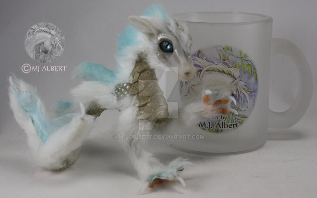 Poseable Water Dragon Art Doll by M-J-Albert