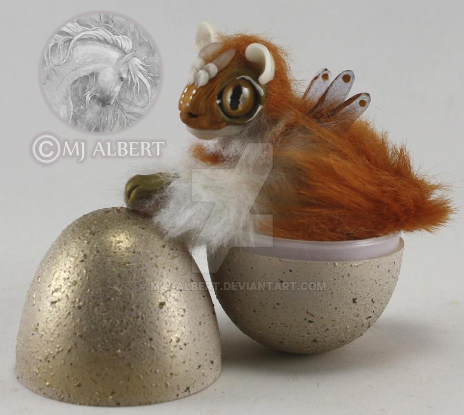 OOAK Fairy Spirit Dragon Hatchling Doll by M-J-Albert