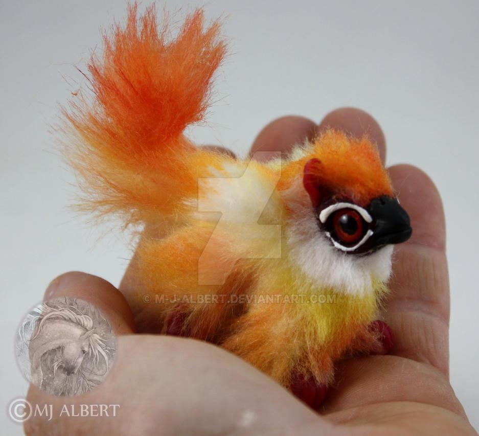 OOAK Fire Gryphon Hatchling Doll by M-J-Albert