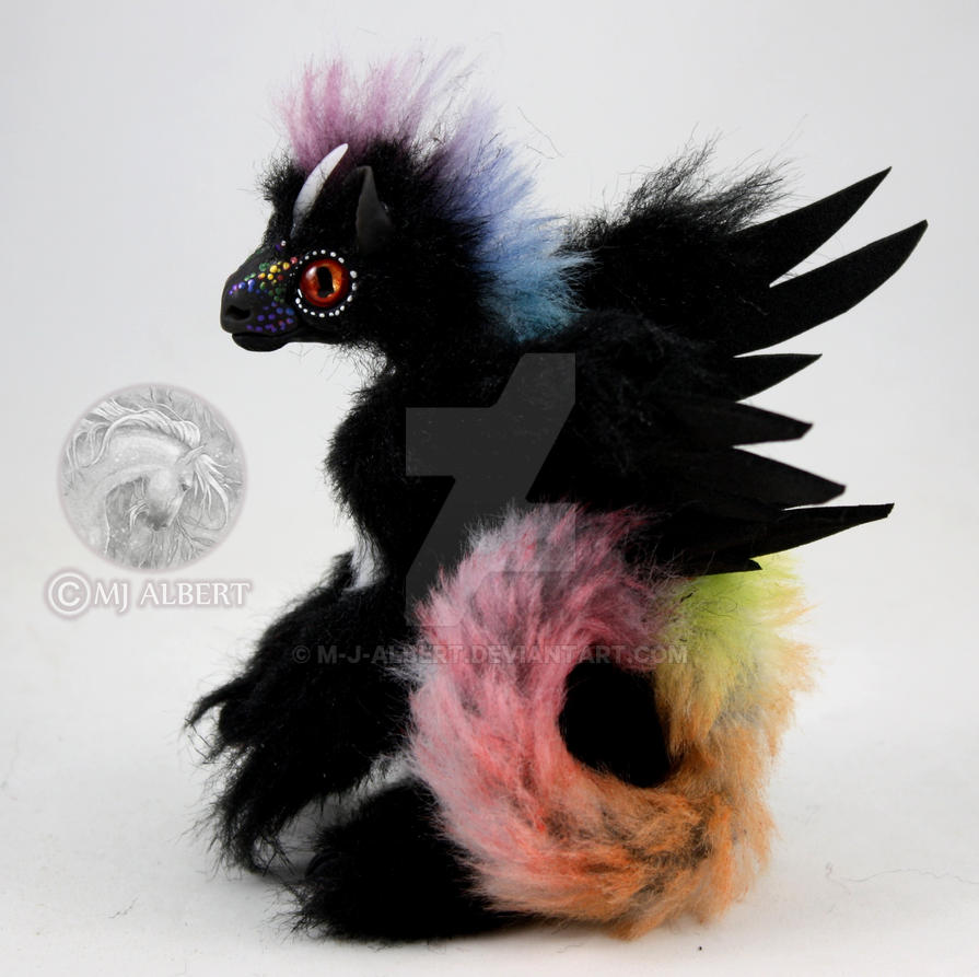 OOAK Mini Bird Dragon Fledgling Art Doll by M-J-Albert