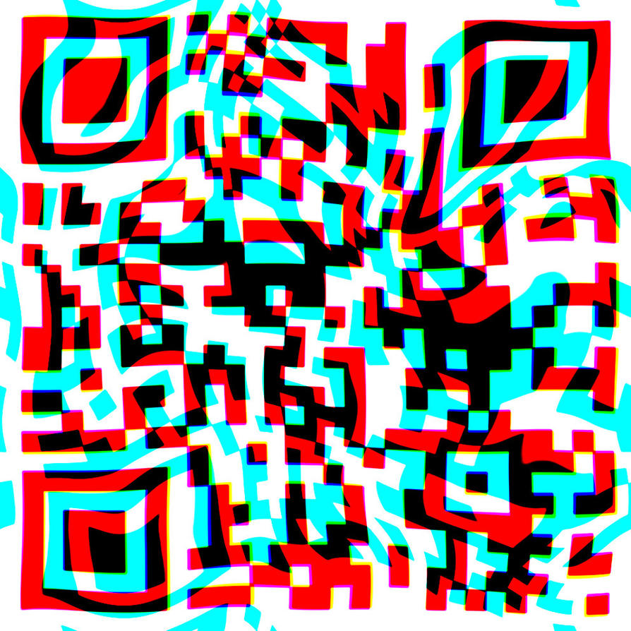 Qr code  psychedelic by visuelalternatif