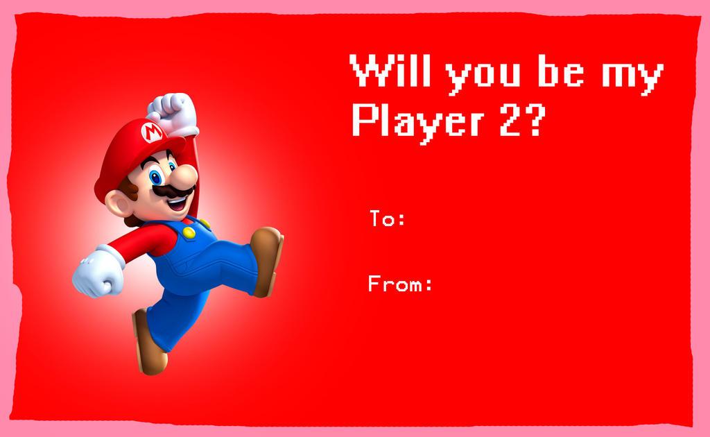 Mario valentine card by rabbidlover01 on DeviantArt – Mario Valentines Cards