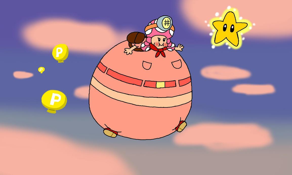 P Balloon: Captain Toadette P-Balloon By Rabbidlover01 On DeviantArt