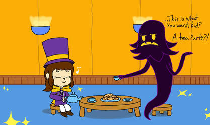 Tea Party with Snatcher by rabbidlover01