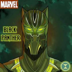 Black Panther - Pop Head Shot by DM-SketchAlchemist