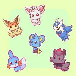 Chubby Pokemons 2 by Chibi-Kylie