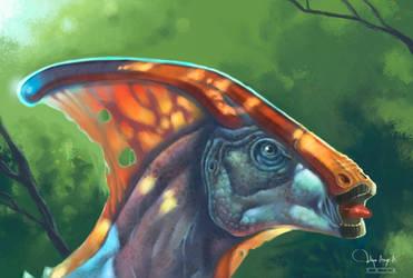 Parasaurolophus by ignius-fa