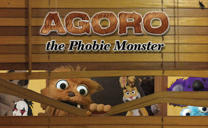 Agoro the Phobic Monster - Show Label