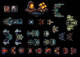 PixArt_SpaceShips by fromcomics