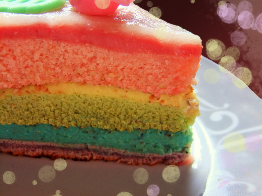 rainbow cake by Renasensei