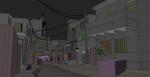 Street Scene WIP1 by chiaroscuro