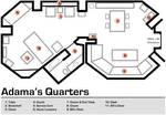 Adama's Quarters Floorplan