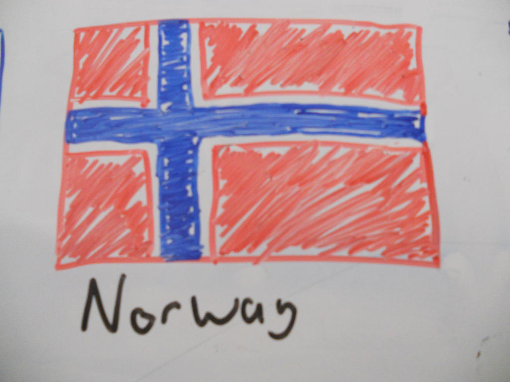 norwegian flag by zoecatnya on deviantart