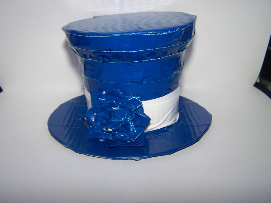 Mini duct tape hat blue by mitsukai freak 527 on deviantart for Mini duct tape crafts