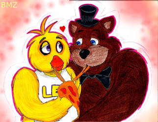 Freddy X Chica by BlackMambaZANE