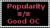 Popularity doesnt make an OC good by BlackMambaZANE