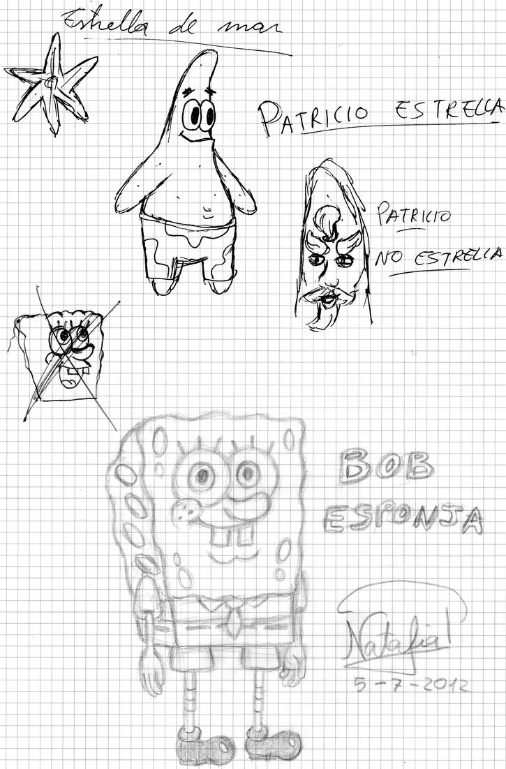 Spongebob doodle page by Dino-drawer