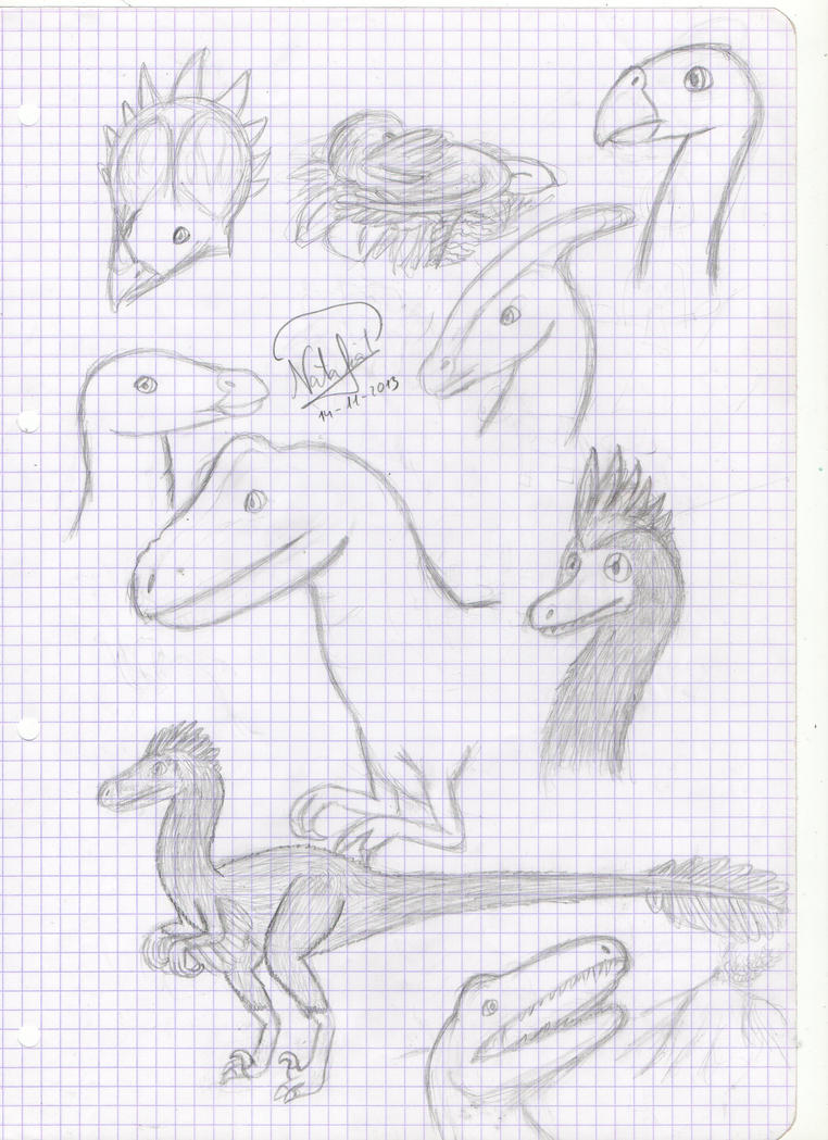 Dinosaur page by Dino-drawer