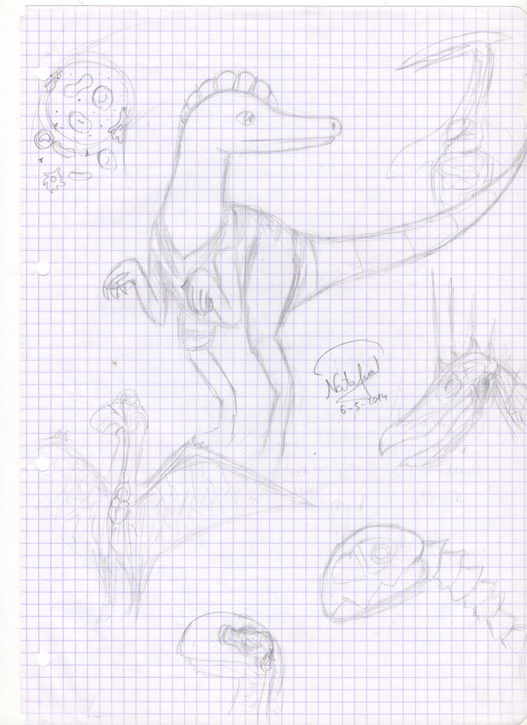 Own dinosaurs anatomy by Dino-drawer