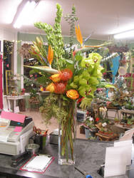 Valentine's Day Tropical Arrangement by ArtisticAdventures