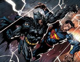 BATMAN VS SUPERMAN!!! by arfel1989
