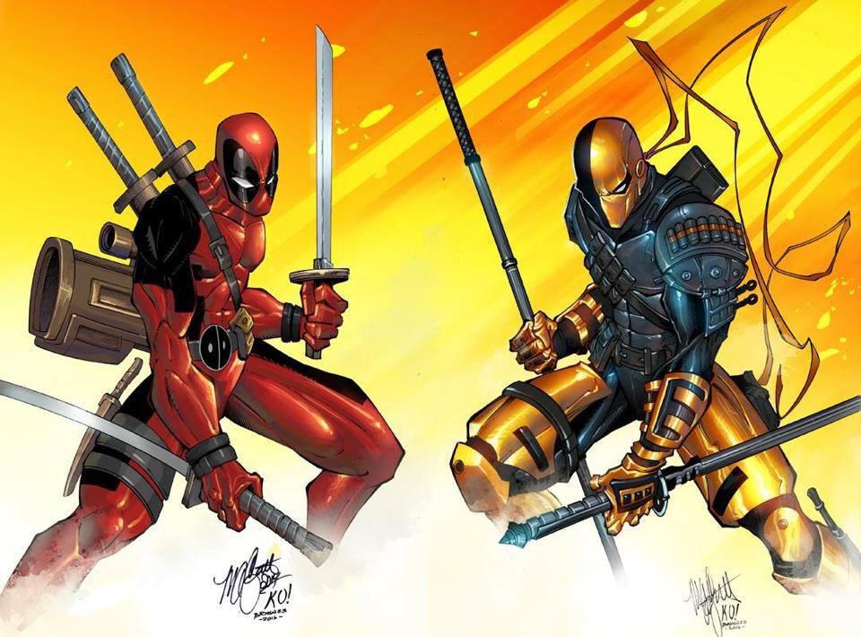 Deadpool Deathstroke by arfel1989