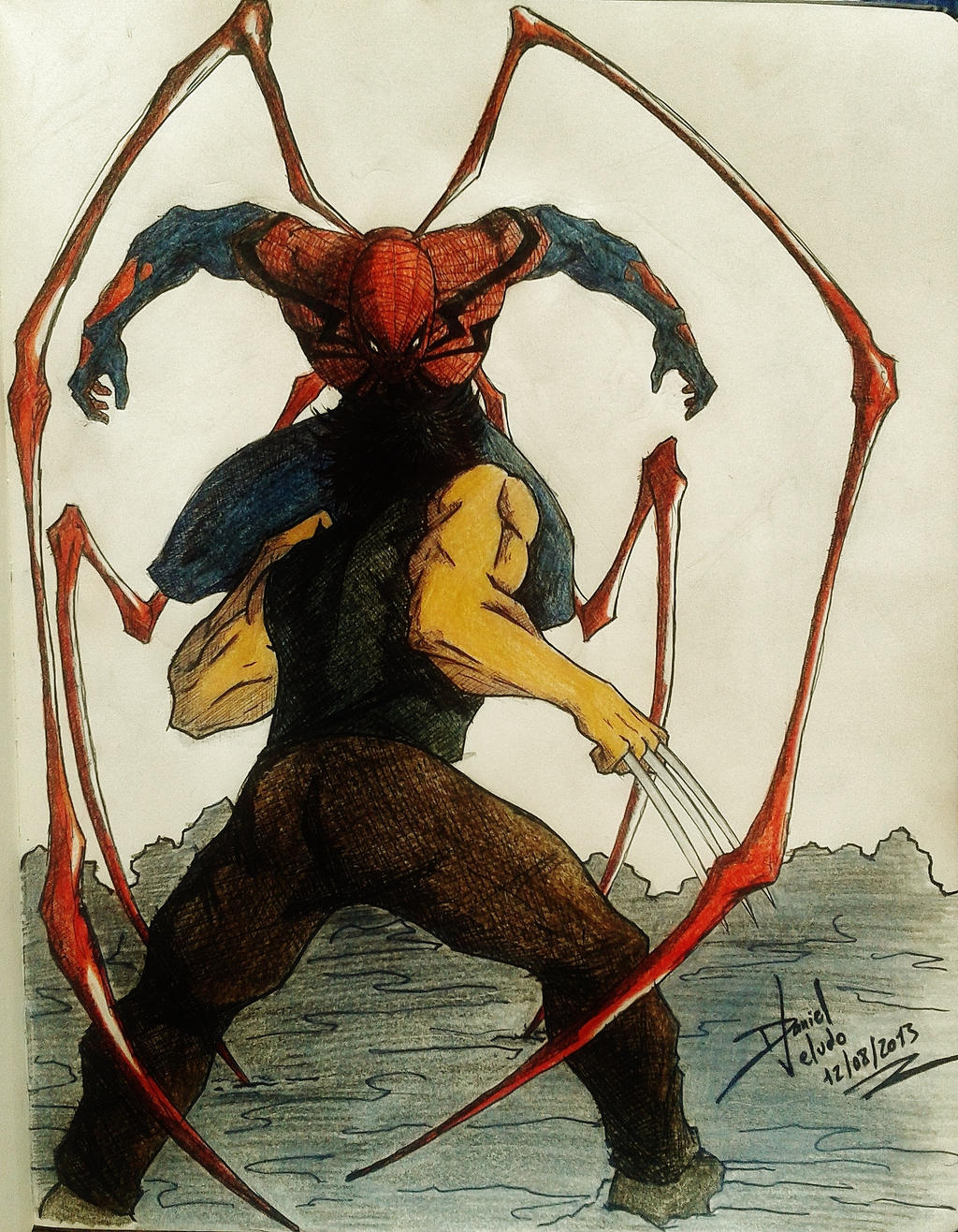 The battle between the Spider and the Wolf!!