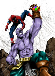 Spider-man vs. Thanos