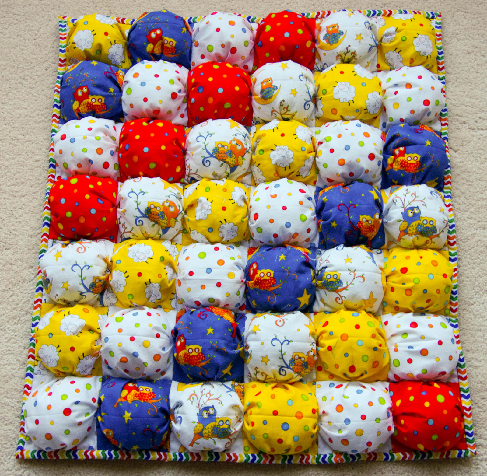 Free Pattern For Baby Puff Quilt : Baby Puff Quilt for Sale by SewStephWa on DeviantArt