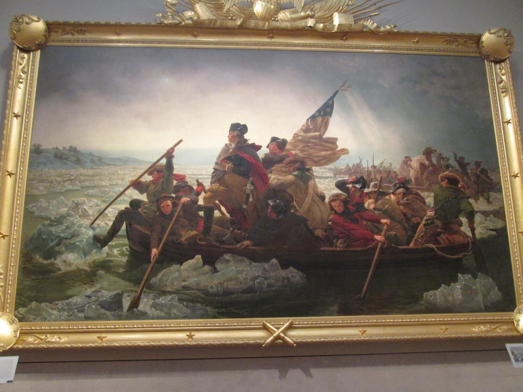 George Washington crossing the Delaware River by renthegodofhumor