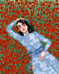 Poppies by Mellobird