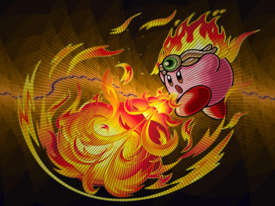 Flame Kirby Wallpaper by Giganfan