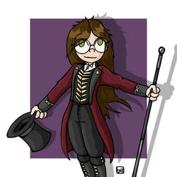 CandiiDrawing as ringmaster by gvsmadcat