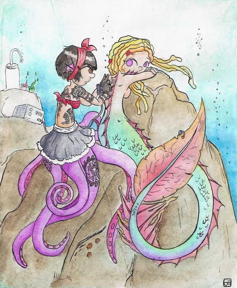 Mermaids and tattoos