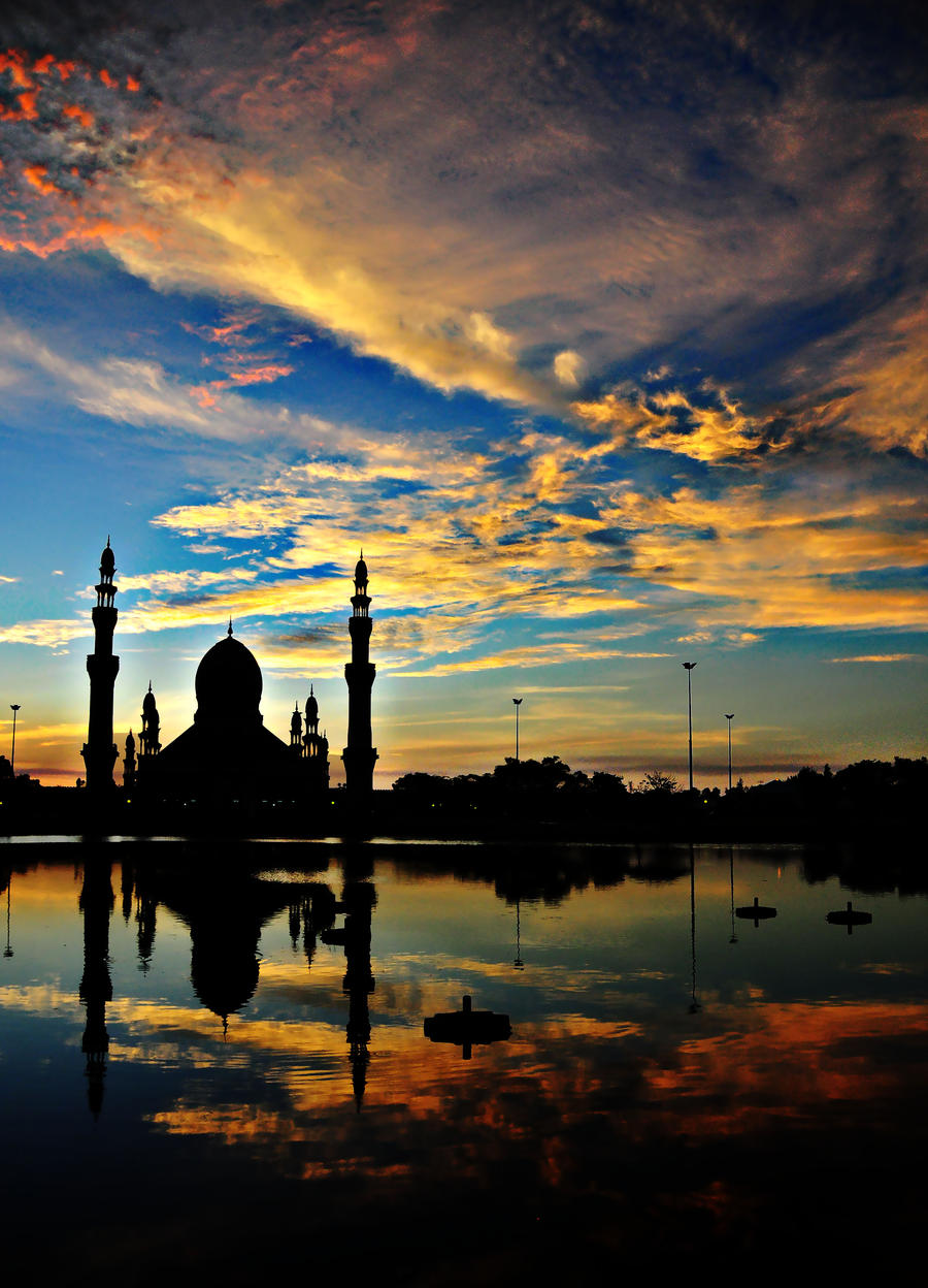 Kuala Belait Brunei  city pictures gallery : mosque at kuala belait, brunei by irhash on DeviantArt