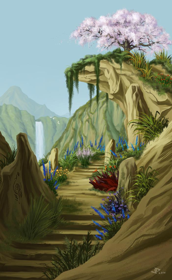 Mountain Garden by sKeTcH-cRaZy