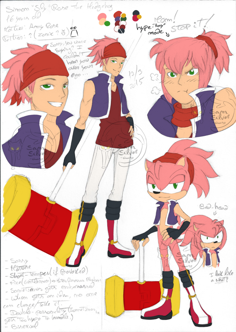 New OC: Simon the Hedgehog ::Bio below:: by SamSilver-chan92