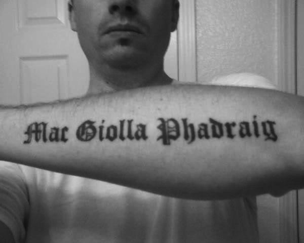 Tattoo...lettering