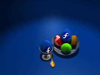 Fedora egg by Mola-mp