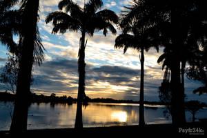 Last Rays Across the Lagoon by Psyfr34k