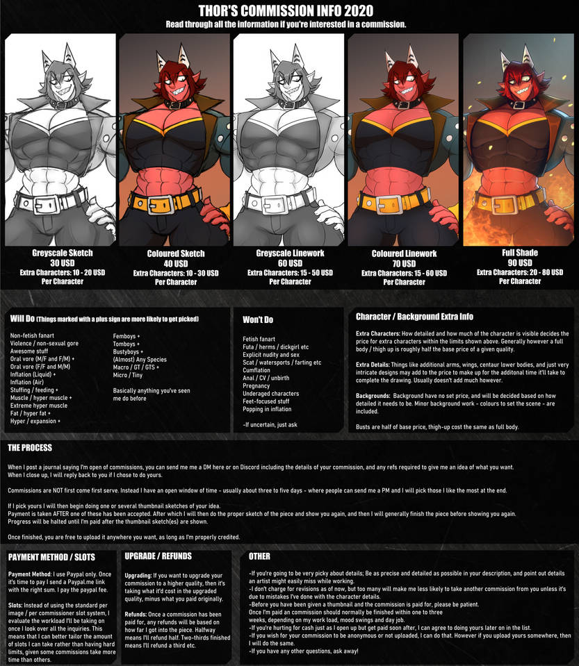 COMMISSION PRICES 2020 (NEW)