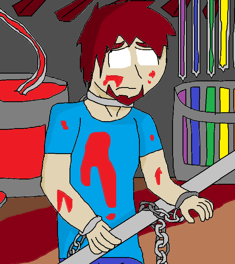 Herobrine Working In The Minecraft Factory Sad By Herobrinesings On Deviantart