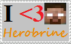 I Heart Herobrine stamp by HerobrineSings
