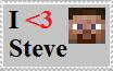 I Heart Steve Stamp by HerobrineSings