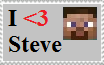I Heart Steve Stamp by HerobrineSings