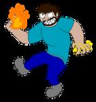 Toon Herobrine (with powers)