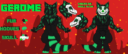 Gerome's Hellhound Form Reference Sheet - SFW