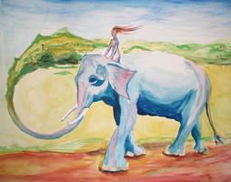 Elephant in Ireland by nkazoura
