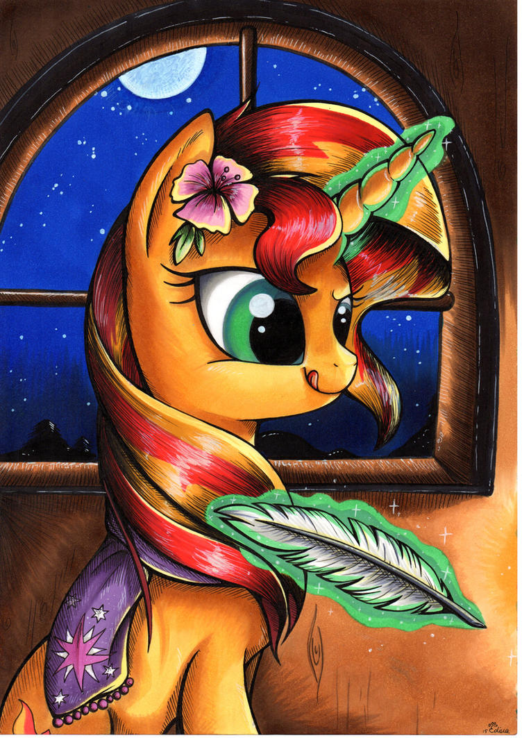 candlelight___sunset_shimmer_by_mylittle