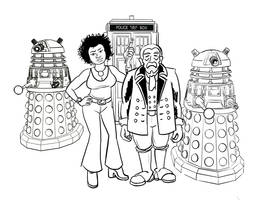 Doctor Who fancomic concept sketch